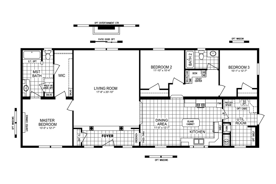 The MINAGGIO 6428-323-1 Floor Plan
