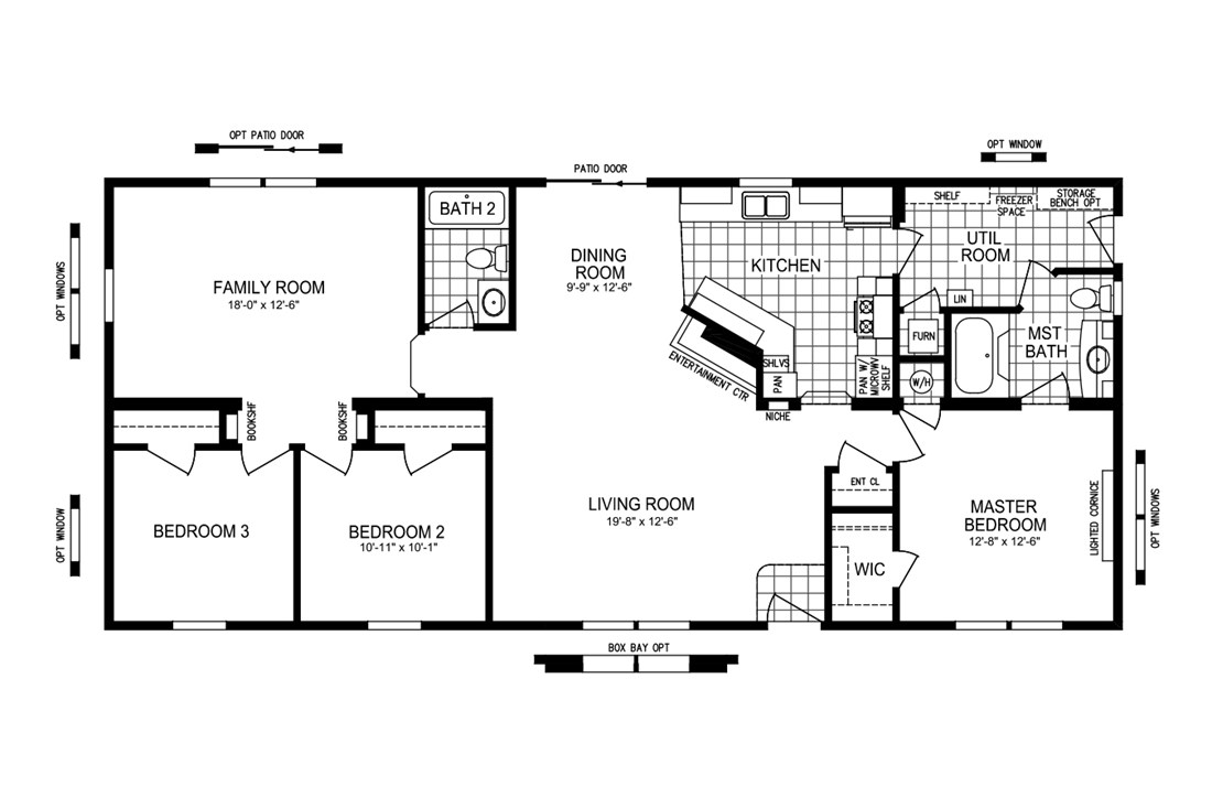 The FLORENCE 6028-5203-2 Floor Plan