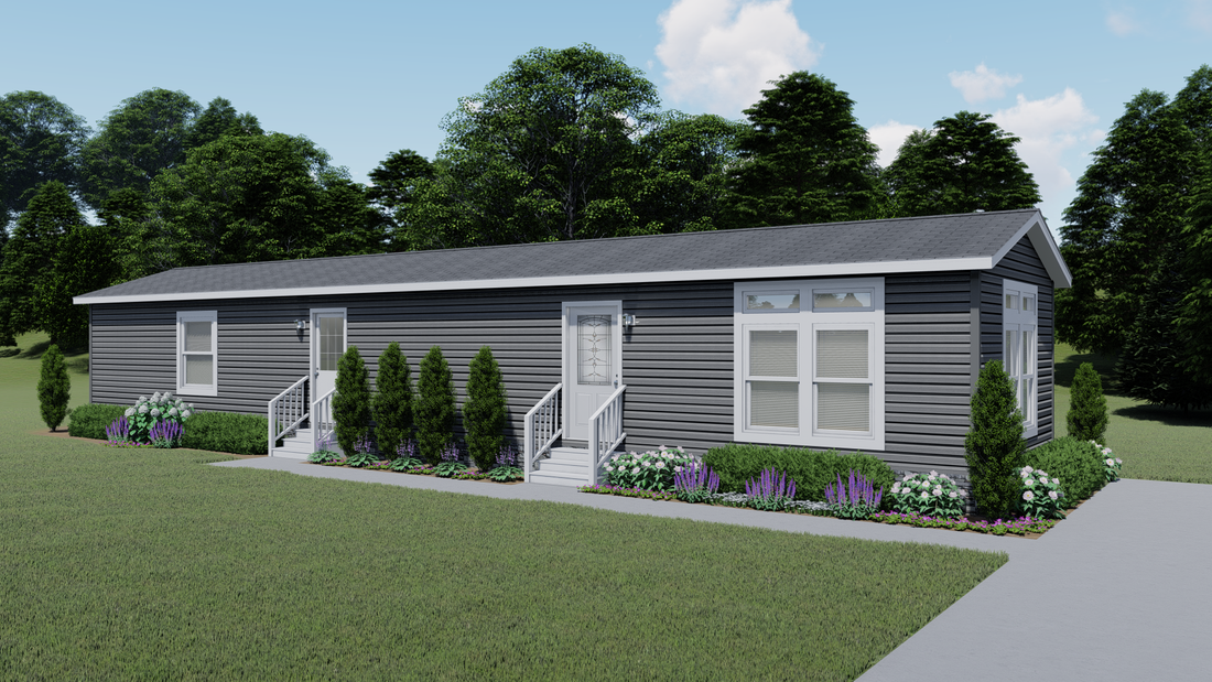The MILAZZO 7016-707 Exterior. This Manufactured Mobile Home features 3 bedrooms and 2 baths.